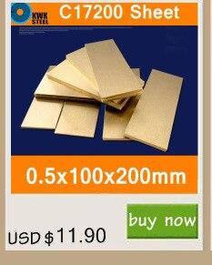 0.8*100*200mm Placa de Folha De Bronze de