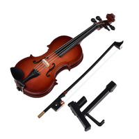 2017 Miniature Violin Miniature Musical Instruments Violin Model With Support Miniature Wooden Instruments Collection Decorative
