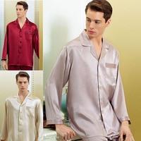 Брендовые мужские шелковые пижамы набор 16momme Для мужчин с длинным рукавом 2 частей пижамы JPS Для мужчин 100% шелк пижамы Для мужчин удобные дом