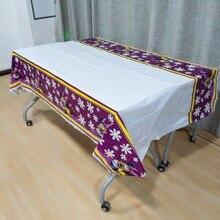 1pcs/set 108cm*180cm Purple Minnie Plastic Tablecloth Party Decorations tablecloth for favor kids girls Disposable