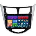 10.2 ''quad core android 4.4 estéreo do carro para hyundai verna 2015 com Radio GPS Mapa De Vídeo Wi-fi BT 16 GB Flash Frete Grátis Carro PC