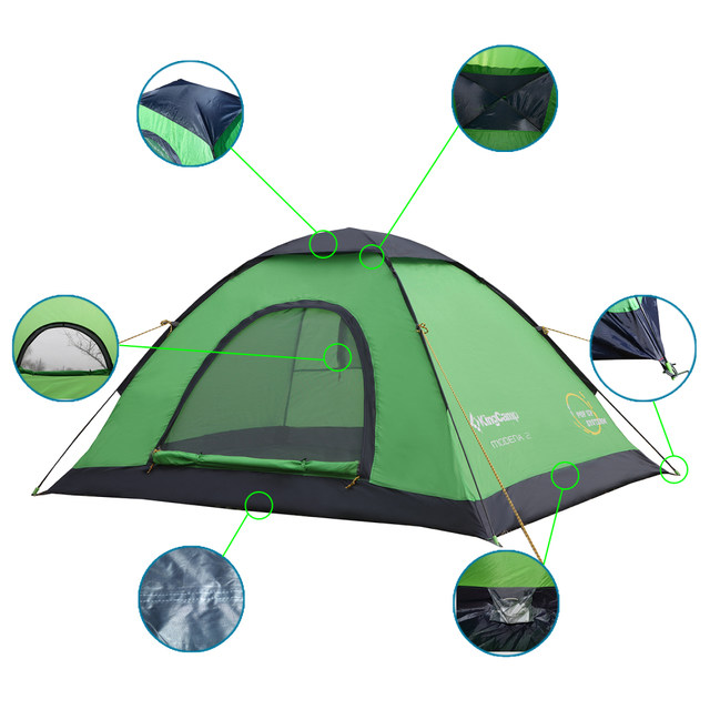 KingC& Pop-Up Dome Tent outdoor C&ing tent family Lightweight Quick Automatic Openning Tent For 2-3 Persons  sc 1 st  AliExpress & Online Shop KingCamp Pop-Up Dome Tent outdoor Camping tent family ...