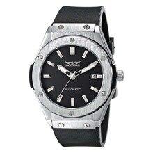 Jaragar Hommes Automatique Mécanique Montre, noir Bracelet En Caoutchouc, Date PMW085