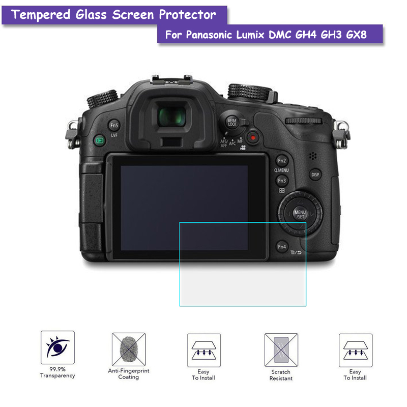 9H Tempered Glass LCD Screen Protector Real Glass Shield Film For Panasonic Lumix DMC GH ...