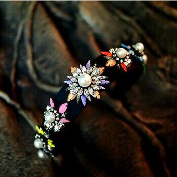 Для женщин Новое поступление shourouk роскошные себе Большой Перл Новые Высокое качество Кристалл волос платье Для женщин партии лентой Jewelry H010