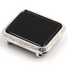Carving Watch Case For Apple Shell Luxury Casing Cover Series 1 2 3 Protcitive Frame 38mm-42mm