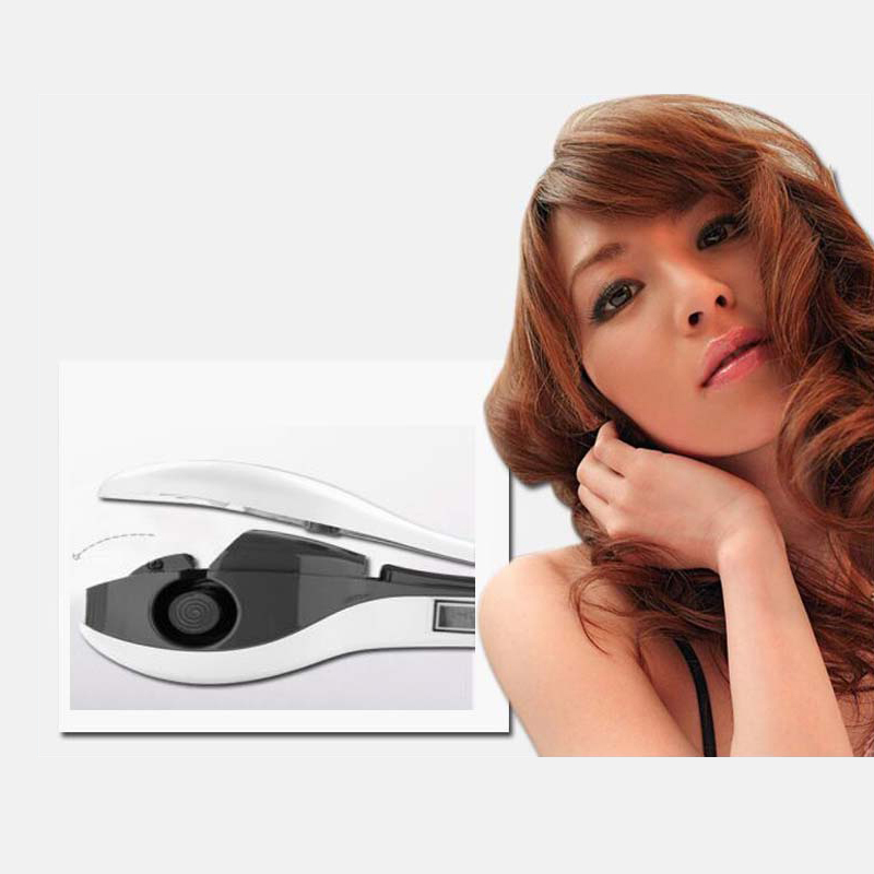 Professional Salon PTC Heating Electric White Color Ceramic Lonic Steam Automatic Hair Curler Home Use professional salon steam styler ptc ceramic vapor steam hair straightener personal use hair styling tool heating iron 110 220v