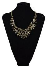 Винтажный стиль эмаль черный камень камень коралловые цветок колье нагрудник ожерелье мода золото серебро листья себе ожерелье