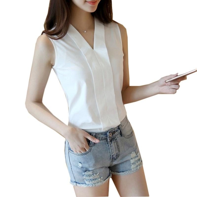 Tops Casual 3xl Plus Femmes Femininas En Taille Soie Nouvelles 4xl Chemises Slim Blanc Blouses Manches Blusas White Mousseline D'été Sans De Neck 2019 Blouse V 6pBqURUw