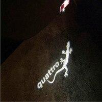 JURUS 2 stücke Led autotür Logo Laserprojektor Licht Für Audi licht A1 A3 A5 A6 A8 A4 C5 A7 Q3 Q5 Q7 quattro begrüßungslicht