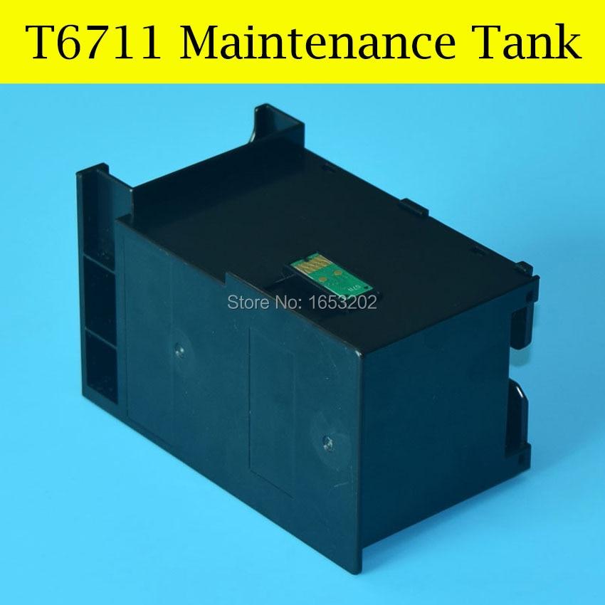 1 Piece Waste/Maintenance Ink Tank For Epson Workforce Pro WF-3010DW/3520DWF/3530DTWF WF-3620DWF Printer t7551 t7554 refill ink cartridge with chip for epson workforce pro wf 8010dw 8090dw wf 8590dwf