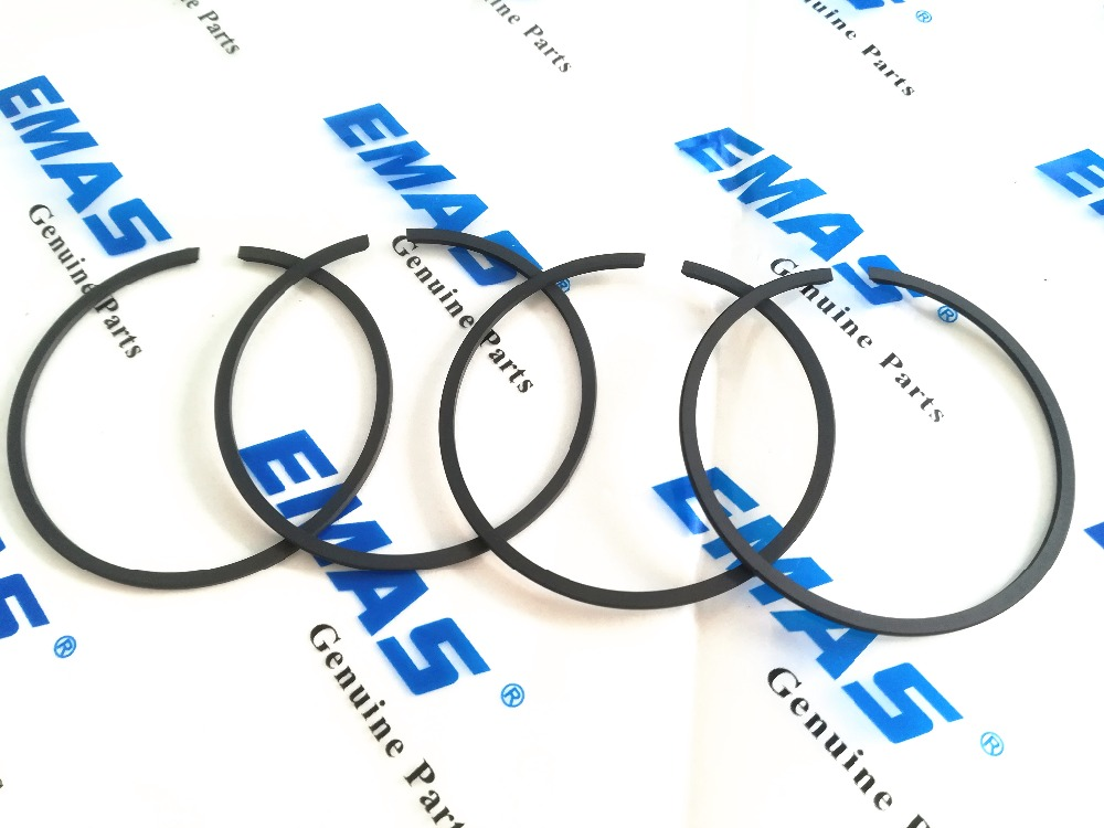 4PCS EMAS High Quality 51mm * 1.2mm Piston Ring For Husqvarna And Stihl Chainsaw