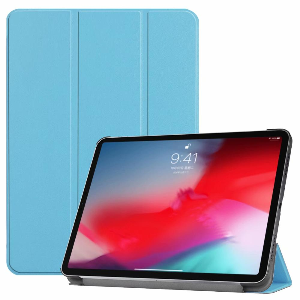 Sky blue iPad Pro3 11 2018 smart case with different patterns