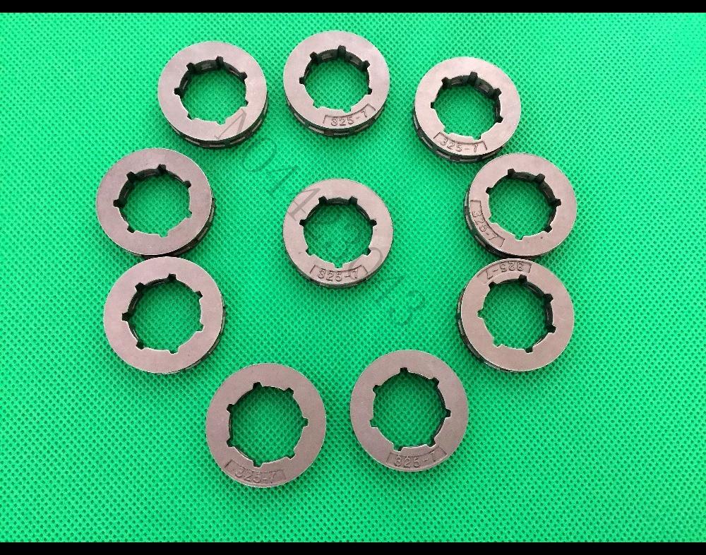 10PCS Chainsaw Sprocket Rim .325 - 7Teeth for 4500 5200 5800 Clutch Drum 45CC 52CC 58CC Chain Saw Parts(China)