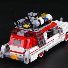 Nuevo educativos 16032, 586 piezas monstruo luchador coche fantasma modelo Kits modelo Compatible con 75828 para niños regalos de navidad juguete