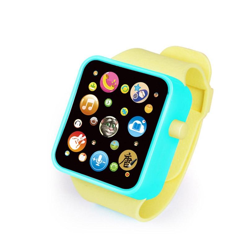 6 цветов, детская игрушка для раннего развития, наручные часы, 3D сенсорный экран, музыка, умное обучение, Лидер продаж, подарки на день рождения - Цвет: WARM GREEN