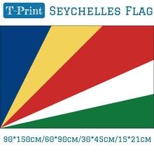 Republic of Seychelles National Flag  90*150cm/60*90cm/15*21cm For Home decoration World Cup Day 30*45cm Car