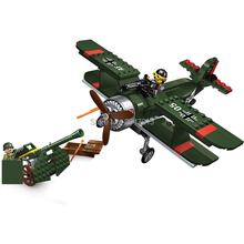 sizzling suitable LegoINGlys Military World War II Bomber with Howitzer Building blocks Land drive figures weapons brick toys present