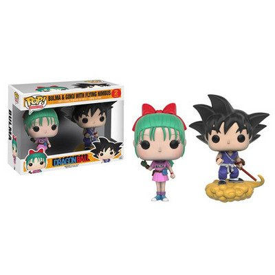 ФОТО US Exclusive 2pcs in box Funko pop Officail Dragon Ball Z - Bulma and Goku with Flying Nimbus Vinyl Figure Collectible Model Toy