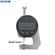 Shahe Portable mini Precise Digital Thickness Gauge Meter Tester Micrometer thickness Small Head 0 - 12.7 mm shahe atl 20 digital high precision tension gauge portable digital tension meter