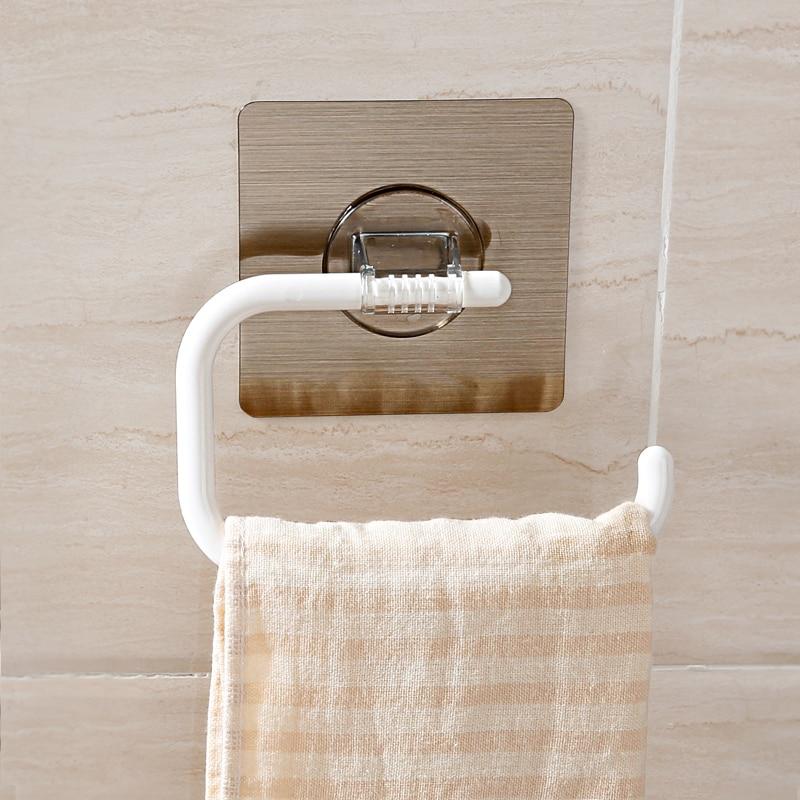 Magic Sticker Wall Mounted Toilet Paper Holder Kitchen Bathroom ...