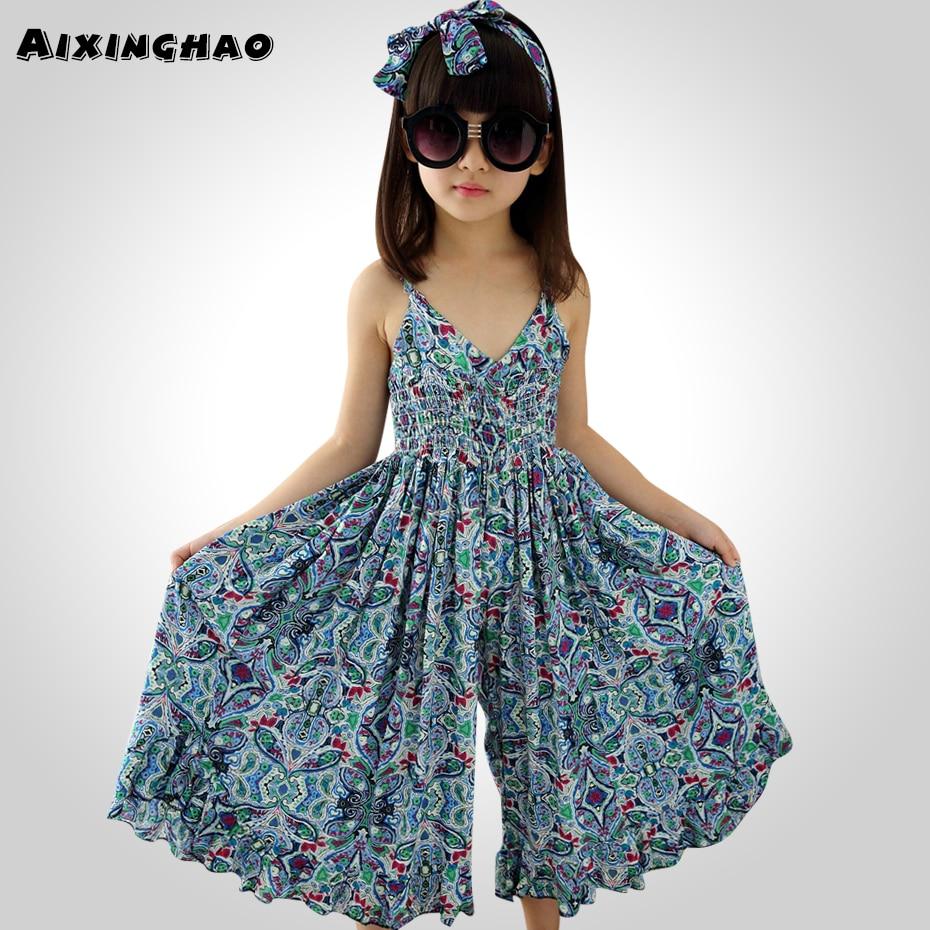 Dresses For Girls: Aixinghao Girls Summer Dress Chiffon Girls Sarafans