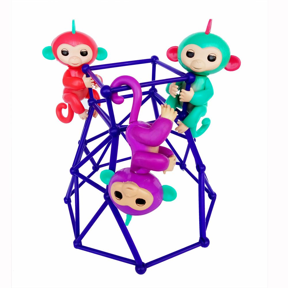 2017 New Monkey Action Figures Baby Smart Monkeys Toy Colorful Monkey Toys For Children Kids Christmas