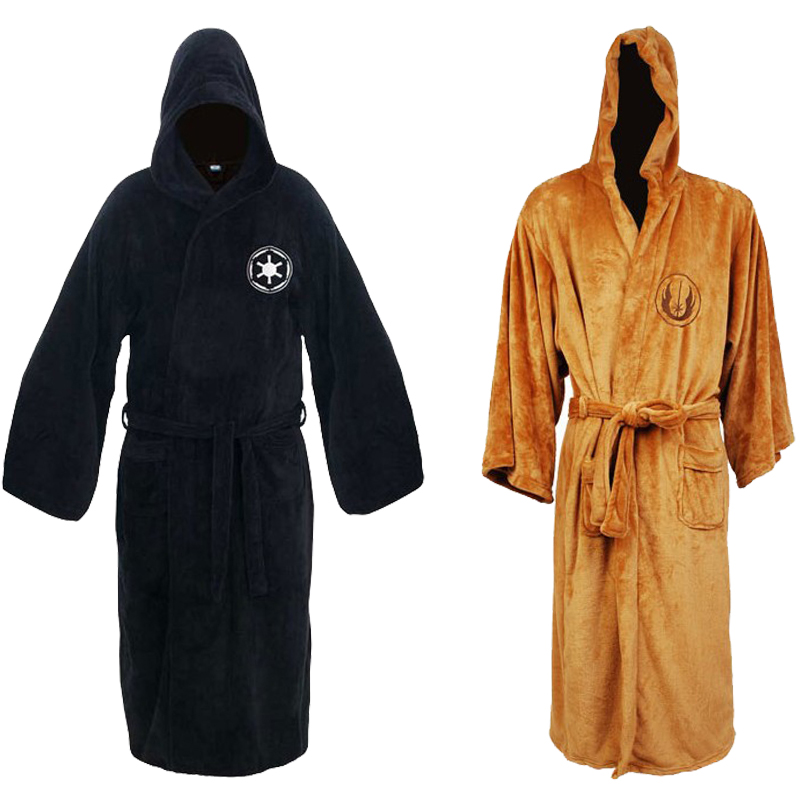 New  Sleepwear Jedi/Black Sith Robe Star Wars Bathrobe Cape Cloak Men
