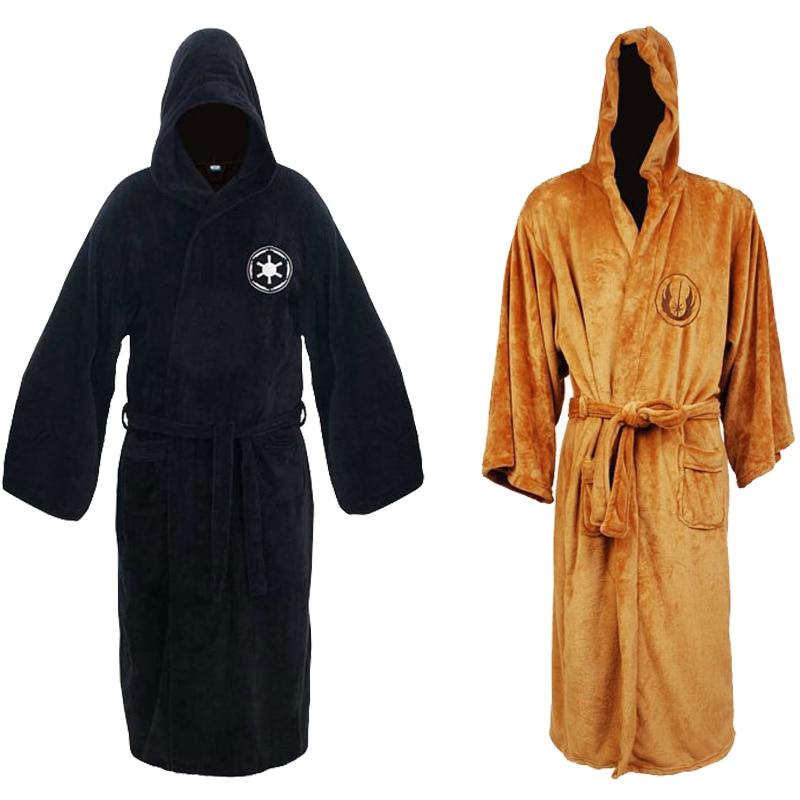 New Adult Sleepwear Jedi/Black Sith Robe Star Wars Bathrobe Cape Cloak Men