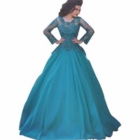 ZYLLGF Hot Sale Ball Gown Saudi Arabia Bridesmaid Dress Beaded Long Sleeves Dresses Bridesmaid Gown Tulle With Appliques SA39