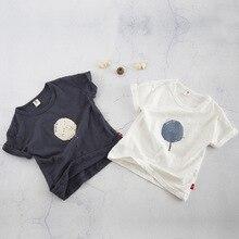 2018 Новая летняя детская одежда для маленьких мальчиков, милая хлопковая футболка с короткими рукавами и принтом карамели