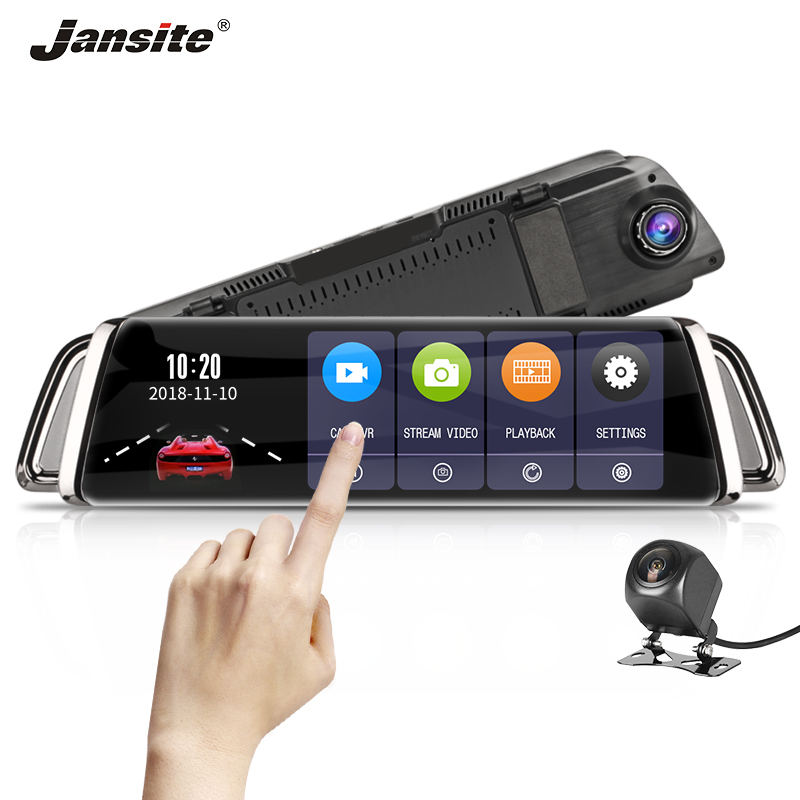 Jansite 10 Touch screen Car DVR FHD Front 1080P with Rear font b camera b font