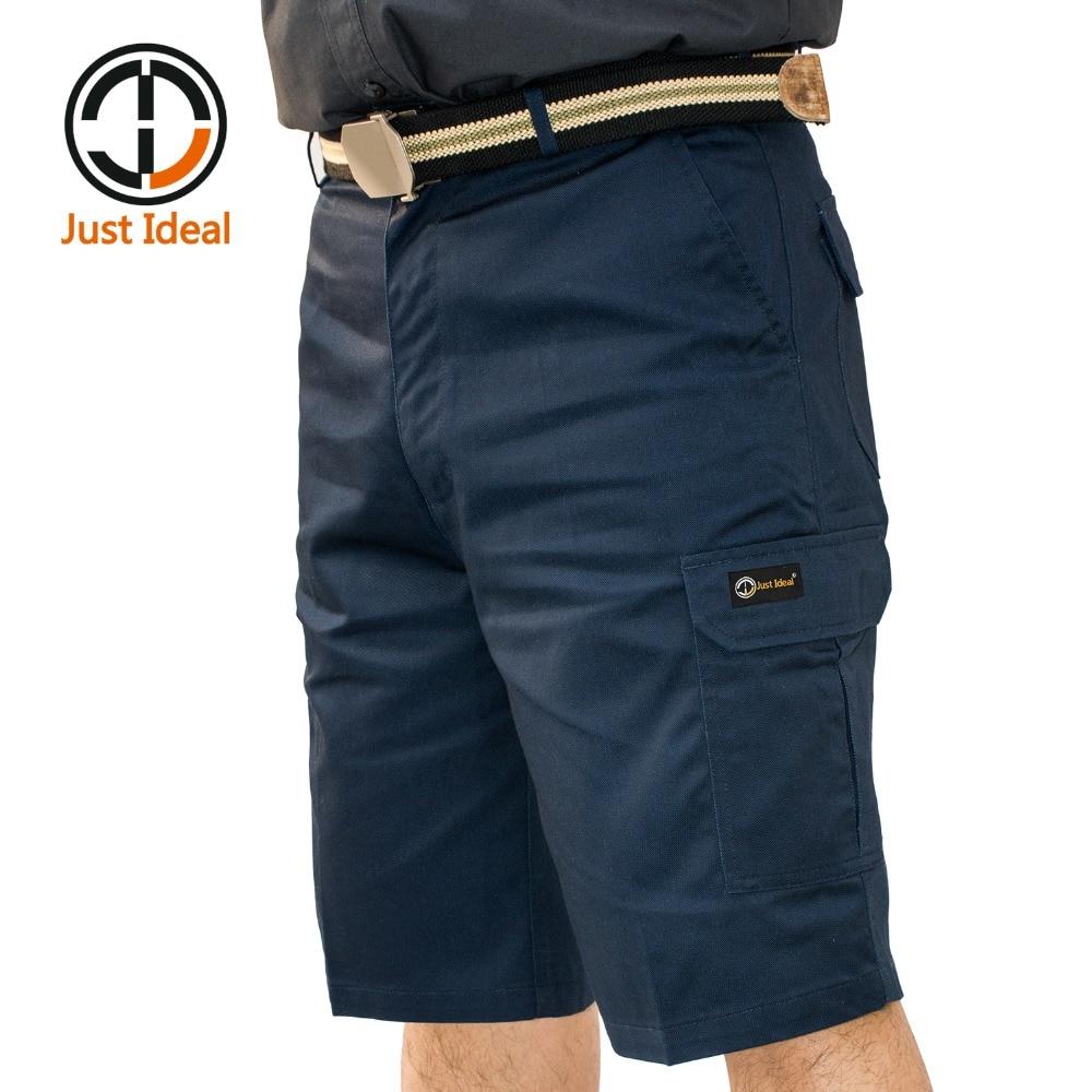 Տղամարդկանց Twill Shorts Պատահական Multi Pocket կարճ տղամարդկանց բեռներ `բարձրորակ Plus չափի ID607