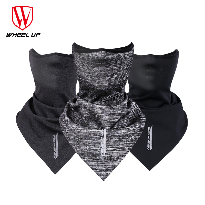 WHEEL UP Winter Cycling Face Mask Triangle Bicycle Bandana Thermal Breathable Sport Bike Scarf Running Headband Ski Mask Shield