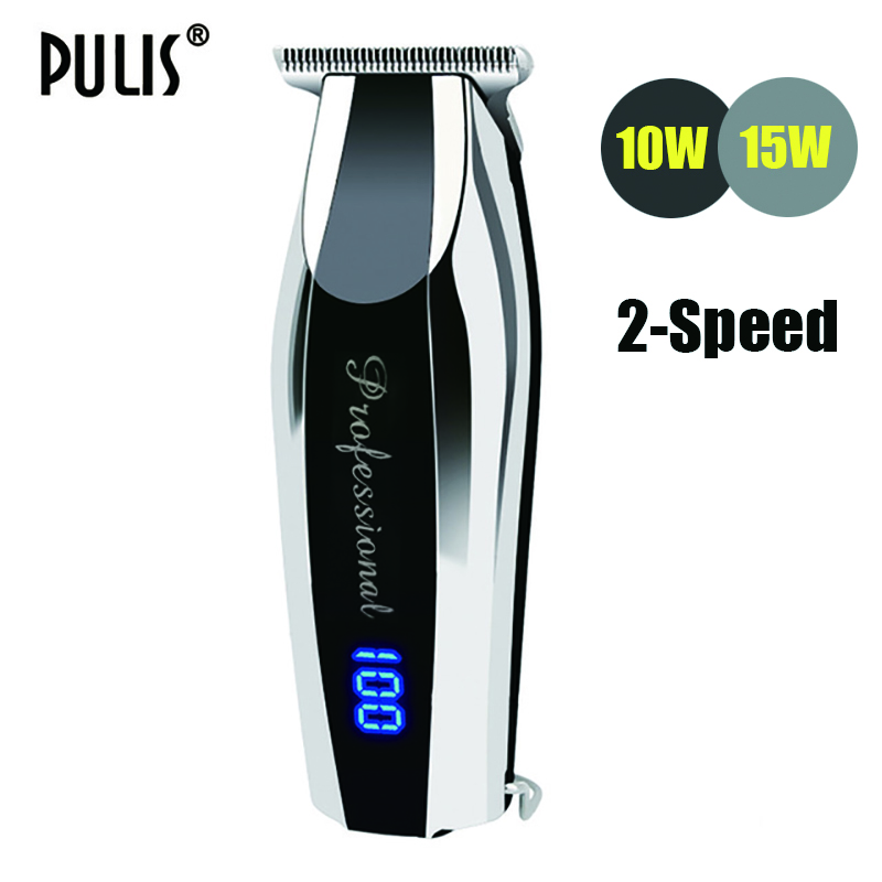 PULIS Professional Hair Clipper Rechageable Electric Hair Trimmer with font b Digital b font Display Home