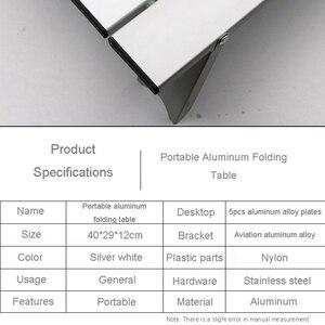 Image 5 - Mesa portátil dobrável de liga de alumínio, móveis para acampamento, caminhadas, mesa, piquenique ao ar livre
