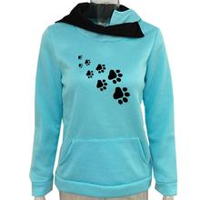 Super cute cat / dog paw footprints women's hoodie
