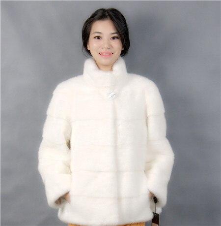 2019 Winter Frau Mode mit einem Kragen kurze weiße Farbe - Damenbekleidung - Foto 2