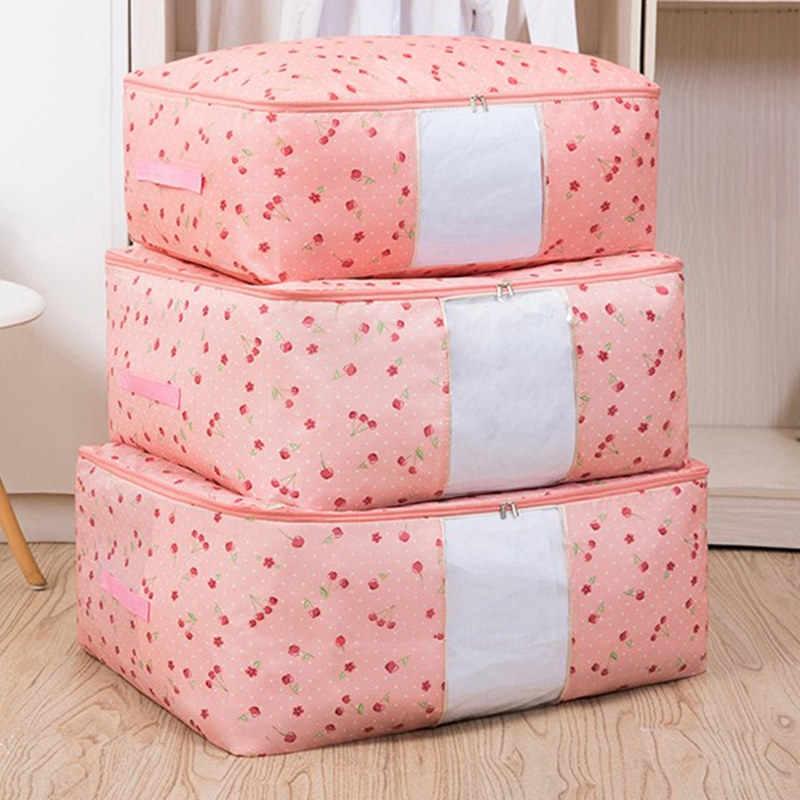 Novo Portátil À Prova D' Água Saco de Armazenamento de Roupas Organizador Dobrável Saco Organizador Organizador Do Armário Para Travesseiro Colcha Cobertor Colcha