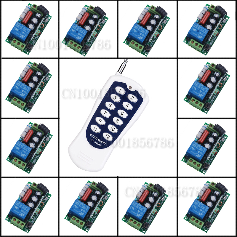 Free Shipping 220V 10A1CH RF Wireless Remote Control Switch Light Lamp LED ON OFF Learning Code Output Adjusted free shipping light lamp led bulb household appliances industrial equipment power remote on off smart home learning code ask