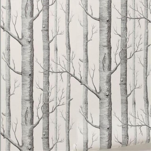 Beibehang Birke Baum muster nicht woven holz tapete rolle moderne wand papier einfache tapete f r.jpg 640x640 - Birke Tapete