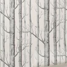 beibehang Birch Tree pattern non-woven wood wallpaper roll modern wall paper simple wallpaper for living room papel de parede 3d