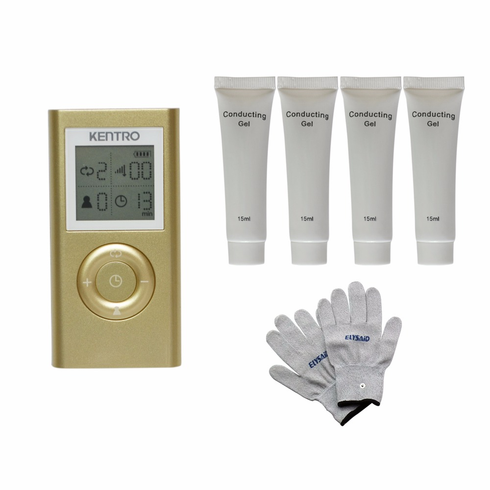 TENS LED Screen Magic Electrictronic Pulse Healthcare Massager Blood Circumstance+1Pair Physiotherapy Gloves+4Pcs Conducting Gel