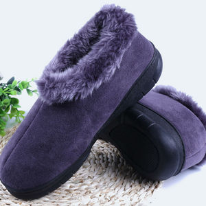 Image 3 - Men Winter Soft Slippers Plush Male Home Shoes Indoor Man Warm Slippers Shoes