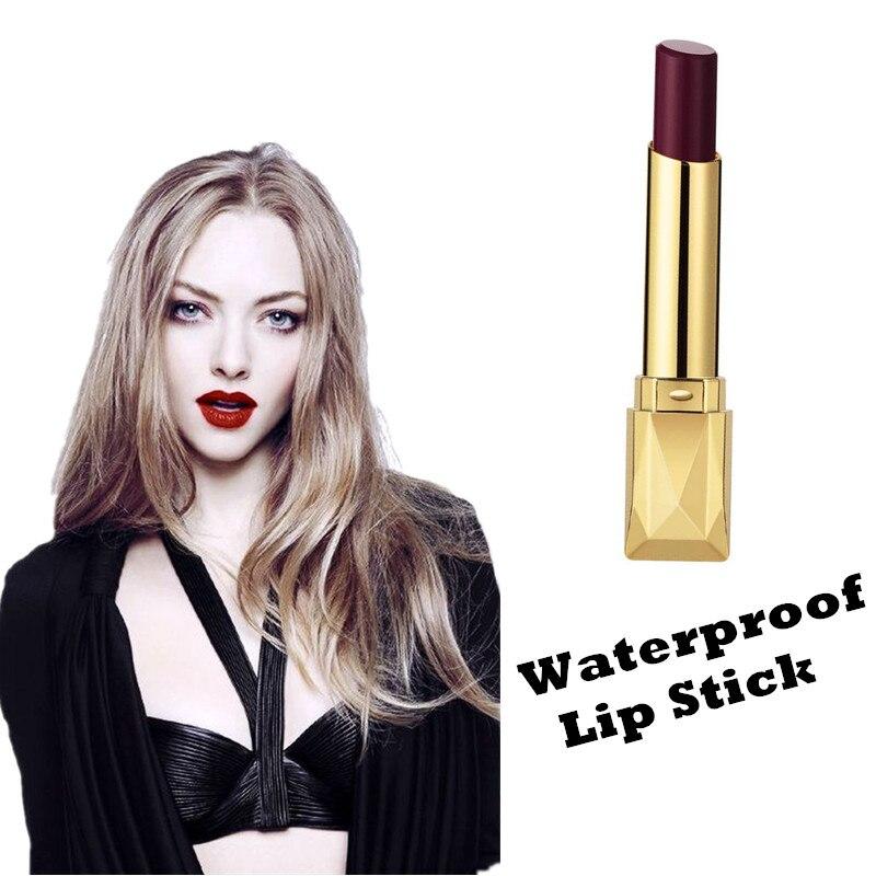 Beauty Matte Lipstick Long Lasting Cosmetics Maquiagem Women Makeup Red Batom Pigments Waterproof Lip Stick Pintalabios Mate 4