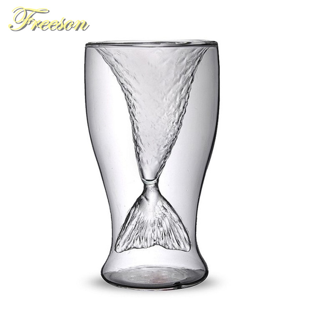 Double Wall Mermaid Cocktail Glass