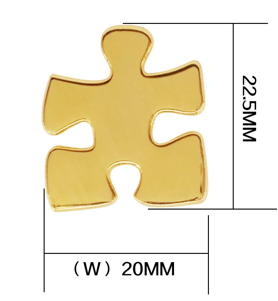 8931e7bacbd US $2.0 |Autism Awareness Heart Hope Walking Angel Jigsaw Puzzle Ribbon  Lapel Pins-in Brooches from Jewelry & Accessories on Aliexpress.com |  Alibaba ...