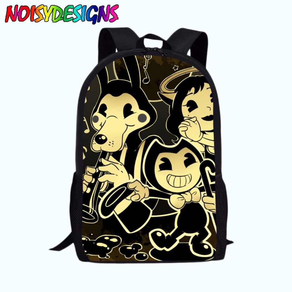 f768a7741c ... School Bag for Kids Boy Girls Backpack Bendy and The Ink Machine Female  Schoolbag School Supplies