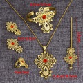 Latest Ethiopian Cross Set Jewelry  24k Gold Plated Jewellery Africa Dubai Bridal  Wedding Sets