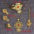 Mais recente Etíope Cruz Conjunto de Jóias 24 k Banhado A Ouro África Dubai Nupcial Do Casamento Conjuntos de Jóias
